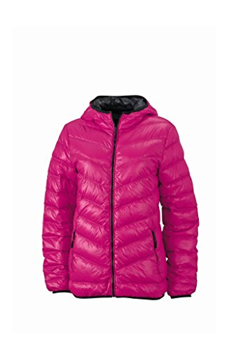2Store24 Ladies' Down Jacket in Magenta/Graphite Size: XXL