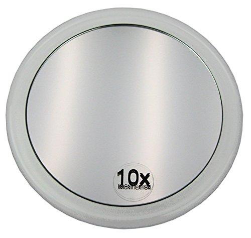 ConPush 10X Extreme Grossissant Miroir de Maquillage Rond avec ventouse Loupe