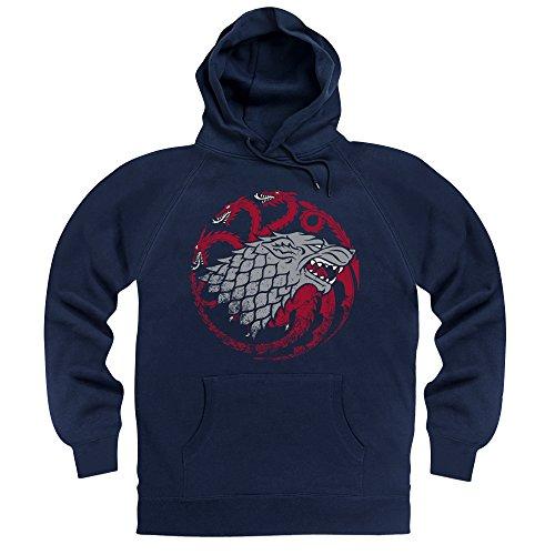 Official Game of Thrones Targaryen And Stark Hoodie, Herren, Dunkelblau, ()