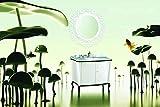 Designwaschtisch Luxus Waschtisch Marmor Badmöbel 110x83x60 Weiß Schwarz NEU
