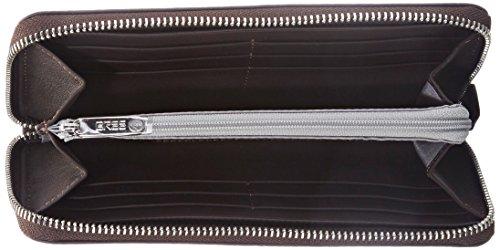 Bree Lapua 111, Black, Zipped Long Purse, Portefeuille Femme Marron (dark Brown 860)