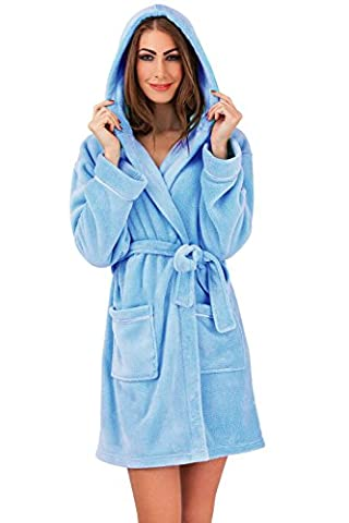 Loungeable Boutique Womens Coral Fleece Robe -