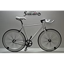 FIXED Bike Single Speed bicicleta Single Speed bicicleta fijación fijo Blanca de aluminio