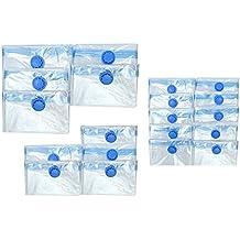iLP 20 tlg. Set Aufbewahrungsbeutel Vakuum-Beutel in 3 verschiedenen Größen für Kleidung, Garderobe und Textil 70 x 120, 60 x 80 & 40 x 60 cm