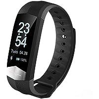BreLINE Smart Fitness Tracker,Pulsera Inteligente Llamada SMS Recordatorio Podómetro Monitor de Sueño Reloj Deportes Pantalla OLED,Tiempo,Cuenta Pasos,Support iOS y Android Teléfono Inteligente