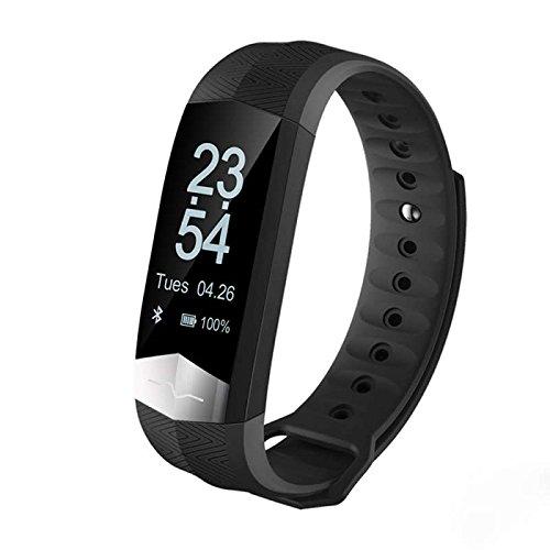 Blguetan Sport Fitness Tracker Armbänder Smartwatch Armband, Schlafüberwachung Aktivität Fitness Tracker Herzfrequenz,Schrittzähler Uhr Smartwatch LED Dimmbarer Dual-Wecker für Damen/Kinder/Herren