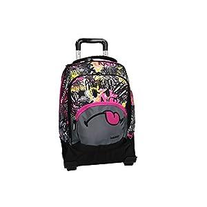 Smiley World Mochila fucsia bolsa de ocio escolar con la carretilla VZ732