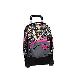 416G0960zGL. SS324  - Smiley World Mochila fucsia bolsa de ocio escolar con la carretilla VZ732