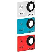 SJCam SJ-3COL-4000W - Kit original SJCAM de 3 carcasas frontales intercambiables compatibles con el modelo SJCAM SJ4000 WiFi, multicolor