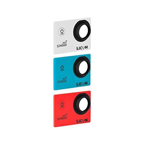 SJCam 3 Faceplates Kit SJ4000 WIFI Custodia per SJCam SJ4000 WIFI, 3 Pezzi, Bianco/Rosso/Blu [Versione EU]