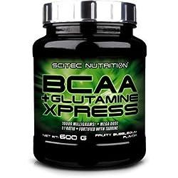 Scitec Bcaa + Glutamine Xpress, Sabor Manzana - 600 gr