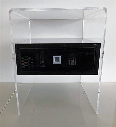 Fimel Comodino/tavolino in plexiglass trasparente con cassettino in ...