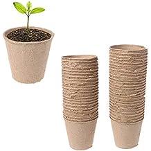 SLYlive - Juego de 50 moldes Redondos de Papel Biodegradable para Hacer Pimienta de Pulpa