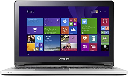 Asus TP550LA-CJ086H 39,6 cm (15,6 Zoll) Convertible Laptop (Intel Core-i3 4030U, 1,9GHz, 8GB RAM, 1TB HDD, Intel HD, DVD, Touchscreen, Windows 8) schwarz (I3 Touchscreen-laptop)