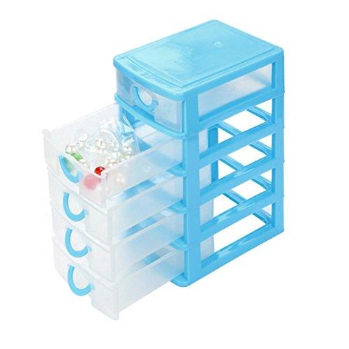Aufbewahrungsbox Mit Deckel sunnymi 1-5 Schichten Klein Desktop Schublade Aufbewahrungskiste Für Durable Kunststoff Kleinigkeiten Fall Kleine Objekte (Himmelblau, XL) - Schublade Desktop