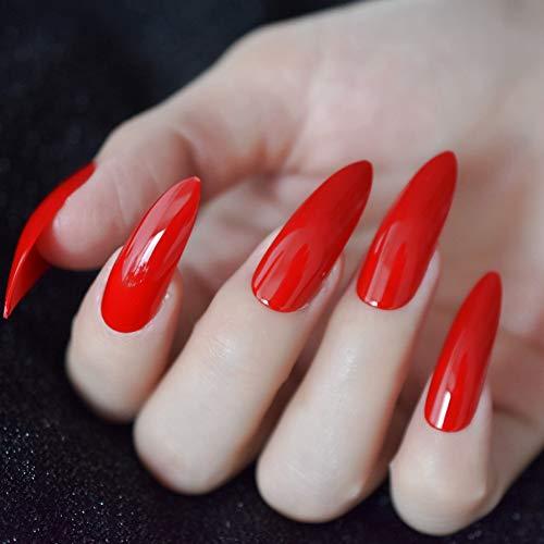 ZJDM Künstliche Nägel Künstliche Nägel Gefälschte Neonnägel Lange, Helle, Glänzende Nägel Zum Aufpressen Von Nageldekorationsnägeln 24