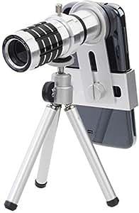 Technomart 12x Universal Mobile Camera Zoom Lense Tripod for All Smart Phone