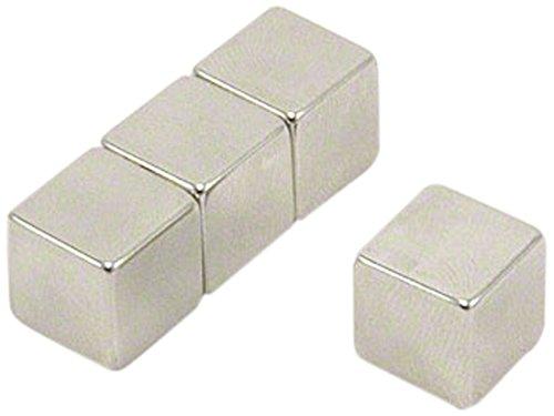 First4magnets F12CU-4 Dicker N42-Neodym-Magnet-7,4kg Anziehungskraft (4 St-Packung), 12 x 12 x 12mm thick, 4 Stück -