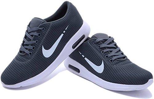 LeatherKraft Men's Casual Sports Shoes Sneaker (9, Grey)