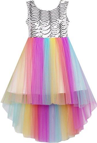 Sunboree Mädchen Kleid Pailletten Masche Hochzeit Prinzessin Tüll Gr.158