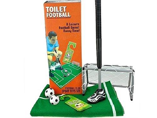GiggleBeaver 59/2017 Toiletten-Fußball-Set, 6-teilig, Schläger circa 64 cm