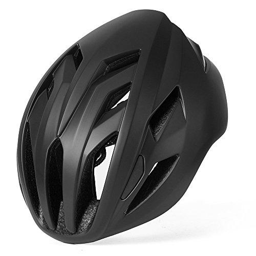 Basecamp Specialized Fahrradhelm Mountainbike Helm 56-62cm, MTB Helm Fahrradhelm Herren Damen mit abnehmbaren Visier Insektennetz gepolsterte Fahrradhelm Leicht (ACE Mattschwarz)