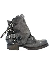 A.S.98 Bottines à Lacets Saint14 520285-101 Smoke Nero TDM Airstep as98