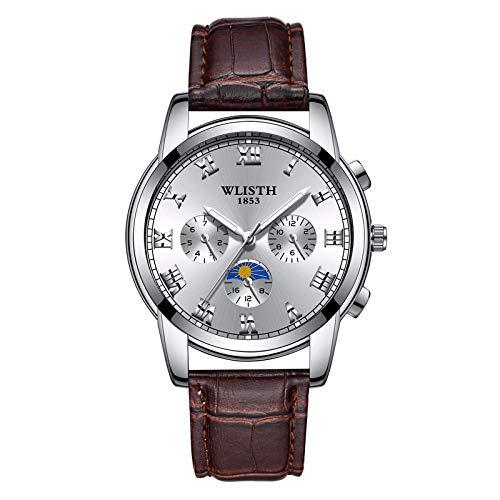 HWCOO Wlisth Mechanische Uhren Uhr Herren Quarzuhr Herrenuhr Stahlgürtel Uhr Herrenuhr Leuchtreklame (Color : 11) - Leuchtreklame Uhr