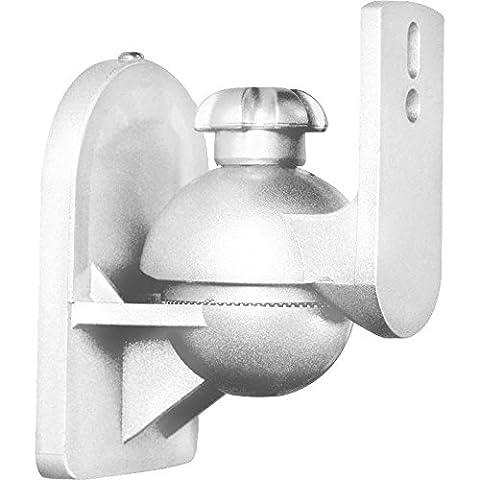 Paar Universal Boxen Lautsprecher Wandhalter Wandhalterung weiß bis 3,5kg