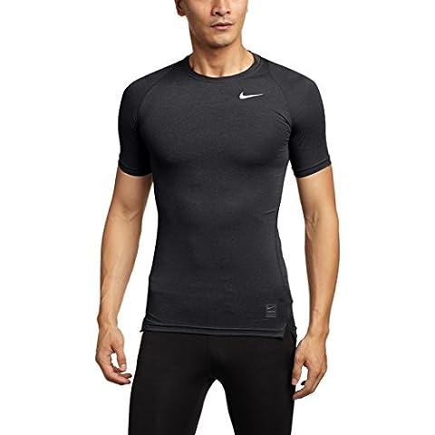 Nike Cool COMP SS - Camiseta para hombre, color negro / gris / blanco, talla S