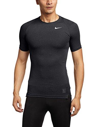 Nike - Maglietta di compressione a maniche corte Uomo - Nero (Nero/ Grigio Foncé/bianco), M