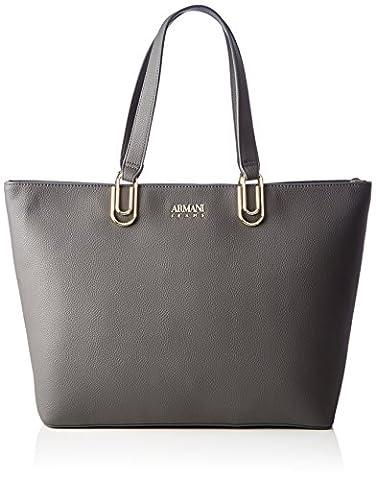 Armani Jeans Borsa Shopping, Cabas femme, Grau (Antracite), 30x12x46 cm (B x H T)