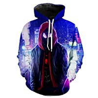 Xdai Unisex Hooded Pullover Hoody Tops 3D Print Sweatshirts Long Sleeve Heavyweight Slim Gym Jacket Sportswear Outdoor Plus Waterproof Hooded Raincoat Windproof Avengers Spider-Man