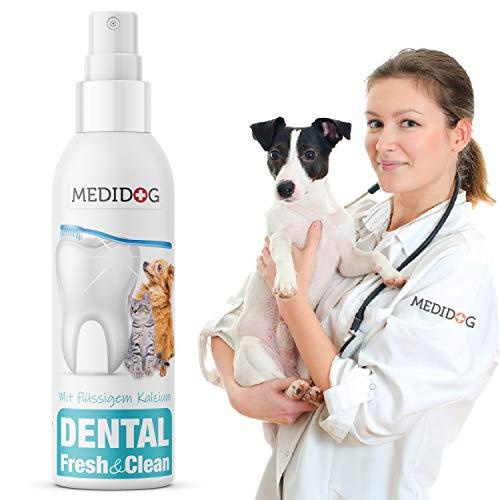 Medidog Dental Fresh&Clean Dentalspray für Hunde und Katzen, die flüssige Zahnbürste, Zahnpflege, Zahnreinigung, Frischer-Atem, Zahnsteinentferner, 150ml für 1000 Sprühstöße