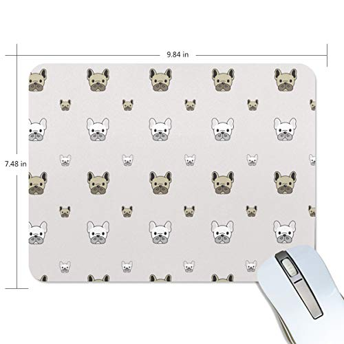 Dress Up Doggie Print Non-Slip Rubber Mousepad Gaming Mouse Pad Fast and Accurate Control for Gaming and Office