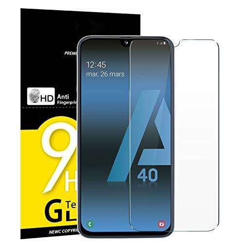 NEW'C Lot de 3 Verre Trempé pour Samsung Galaxy A40 (SM-A405F), Film Protection écran - Anti Rayures - sans Bulles d'air -Ultra Résistant (0,33mm HD Ultra Transparent) Dureté 9H Glass