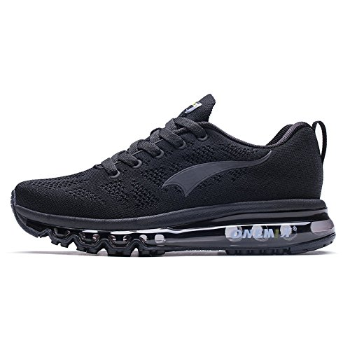 Foto de Onemix Zapatillas de Deporte Hombre Respirable Zapatos para Correr Athletic Air Cushion Running Sports Sneakers Negro 45 EU