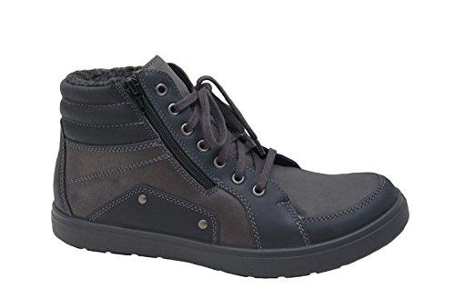 Jomos Herren Boots Trailer 317701-510-044 Schwarz/Shark, Gr. 41-47, Leder, Weite H, Farben:Schwarz, Herren Größen:42