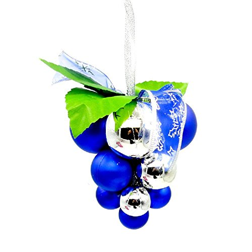 Weihnachten Geschenk hochwertige Trauben Kugeln hängen Dach Ornamente Urlaub Lieferungen , blue