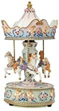 Musicbox World 14031 Carousel with Angel Playing Dixieland