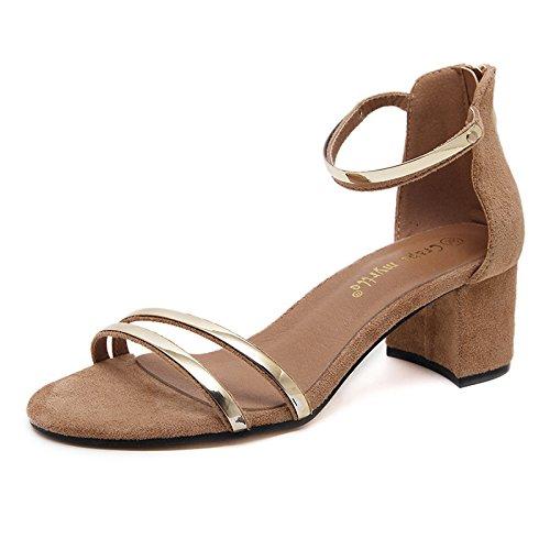 GS~LY Donne sandali semplice Apricot color