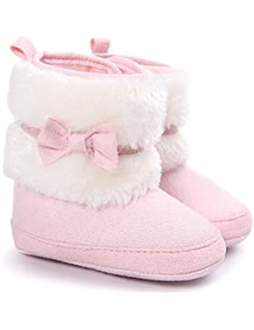 FEITONG Baby Bowknot Warme weiche Sohle Schnee Aufladungen weiche Krippe Kleinkind Schuhe