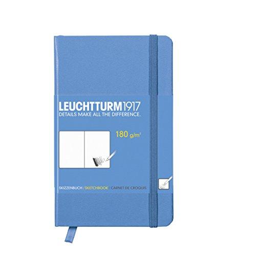 Leuchtturm1917 344659 Skizzenbuch Pocket (A6, mit reinweißem, extra starkem 180 g/m² Papier, 96...