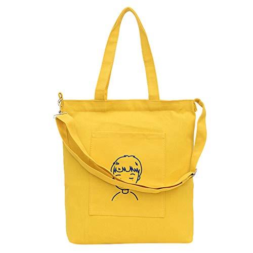 FOANA Canvas Tasche Damen Rucksack Handtasche Damen Vintage Umhängentasche Anti Diebstahl Tasche Hobo Tasche für Alltag Büro Schule Ausflug Einkauf