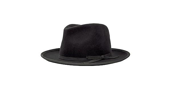 Brixton Hats Manhattan Fedora Hat - Black Large-60cm  Amazon.co.uk  Clothing ecb154b9b75c