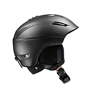 Salomon Casco da Sci e da Snowboard in Pista Per Donna, Custom Air, Interno in Schiuma EPS 4D, Taglia S, Circonferenza : 53-56 cm, ICON² C. AIR, Nero, L39124100