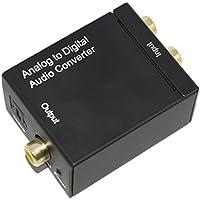 enterest analógica a digital óptico adaptador convertidor de audio color en negro fácil de instalar fácil de operar
