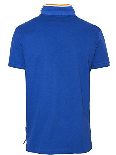 Beverly Hills Polo Club Herren Kurzarm 100% Baumwolle Polo Shirt - BHPC 2615 Blau