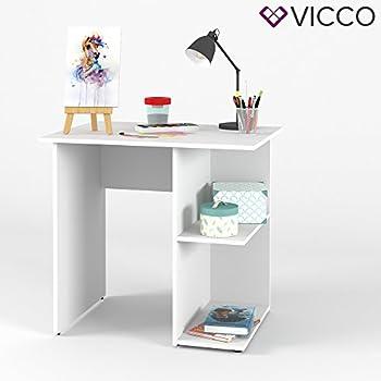 Schreibtisch büro weiß  VICCO Schreibtisch SIMPLE 76 x 82 cm Weiß - PC Tisch ...