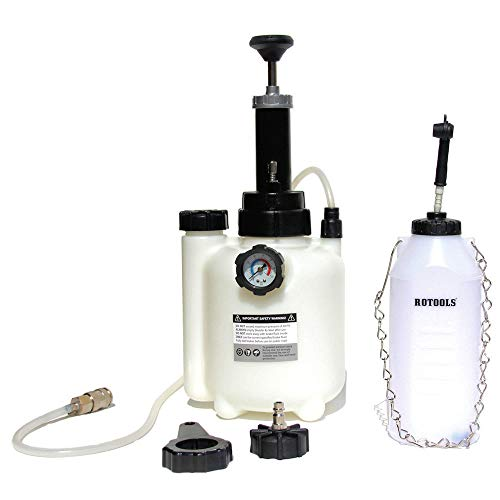 ROTOOLS Bremsenentlüfter Bremsenentlüftungsgerät + Auffangflasche für Bremsflüssigkeit + E20 Adapter
